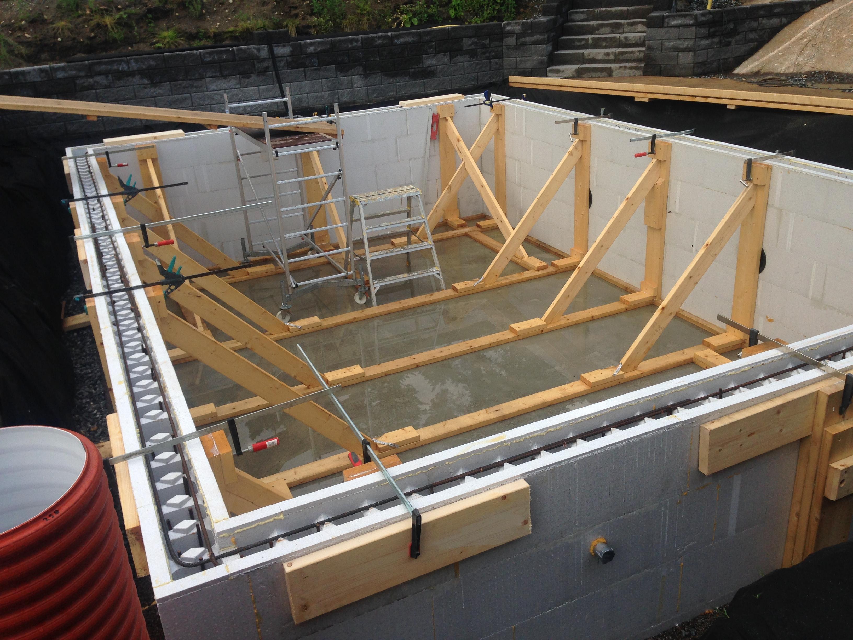 gjuta väggar i betong